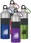 25oz Two Tone Aluminum Bottles With Rubber Grip